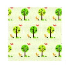 卡通绿树背景图片