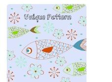 卡通小鱼背景图片