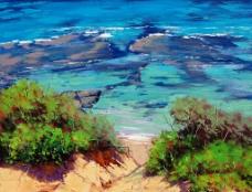 油画 海滩图片