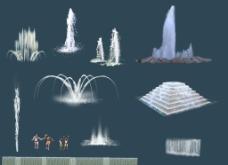 喷泉叠水图片