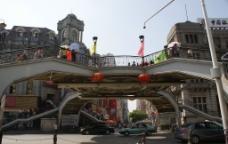 江汉路步行街天桥图片