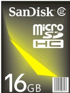 SanDisk MiniSD HC 标识图片