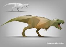 恐龙立体面模型