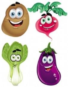 蔬菜笑脸形象