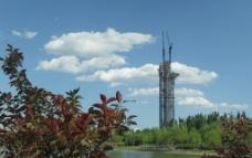 奥林匹克公园与云图片