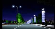 道路景观亮化图片