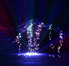 动感光线光芒光点 梦幻背景图片