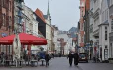 Flensburg 弗伦斯堡城市街道图片