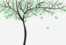 飘落的树叶 矢量图片