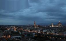 佛罗伦萨 黄昏 俯瞰图片