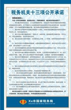 税务机关十三项公开承诺图片