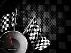 赛车速度表旗帜