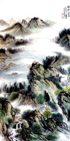 湖山人居图图片