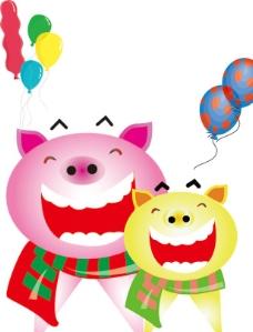 猪可爱卡通图片