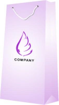 紫色飞翼手提袋