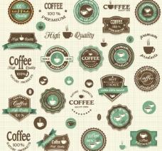咖啡徽章标签图片