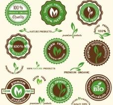 原生态绿色环保徽章标签图片