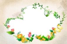 花瓣绿叶背景图片