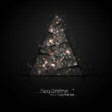 絢麗圣誕樹背景