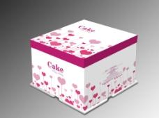 蛋糕盒 (展开图)图片