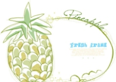 卡通菠萝背景图片
