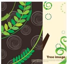 卡通树叶背景图片