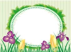 小草鲜花背景图片
