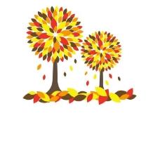 大树落叶背景图片