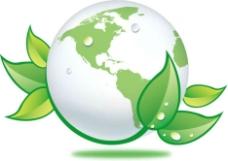 绿叶地球图片