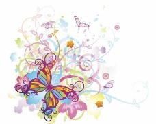 梦幻蝴蝶花纹 花朵图片