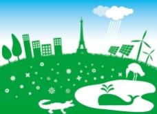 绿色草原环保背景图片