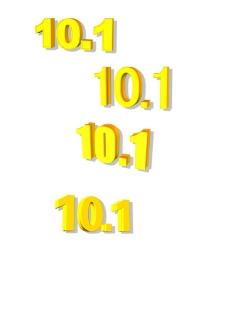 101立体黄金字图片