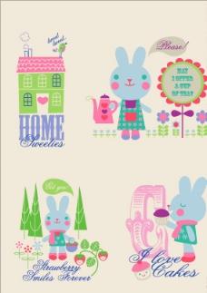 快乐的小兔子图片