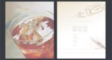 咖啡广告设计 注左图合层图片
