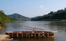 小桥流水木船图片