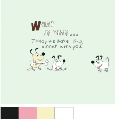 字母小狗图片