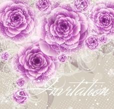 紫色梦幻花纹花朵 玫瑰图片