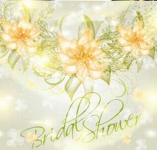 婚礼梦幻花纹花朵 花卡图片