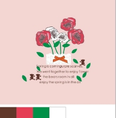 花朵字母 玫瑰花图片