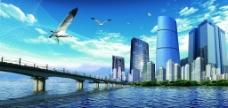 建筑物海报图片