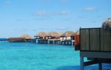 马尔代夫 满月岛 水上屋图片
