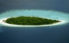 马尔代夫 鲁宾逊岛 鸟瞰图片