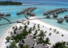 马尔代夫 旅游 度假村 俯瞰图片