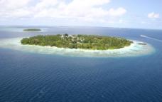 马尔代夫 班度士岛 鸟瞰图片