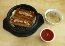 韩国菜 砂锅鳗鱼图片