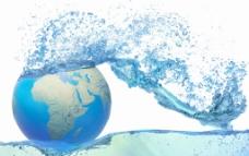 水与地球图片