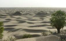 塔克拉玛干大沙漠摄影图片