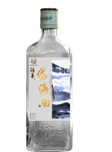 鸿茅岱海白酒标签图片