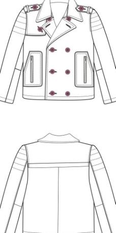 服装平面设计效果图服装 设计手稿 皮衣设计 服装设计男装图片