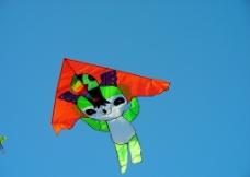 放飞风筝图片
